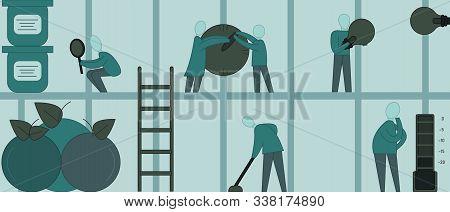 People Inside The Fridge Work, Take Care Of The Fridge, Watch The Shelf Life, Change The Light Bulb,