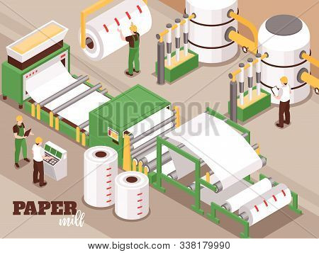 Paper Manufacturing Automated Operator Controlled Process Isometric Composition With Pulping Pressin