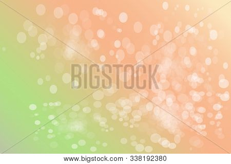 Springtime Pink Bokeh Background Design. Green Abstract Spring Background With Green To Pink Gradien