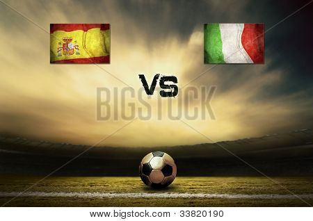 Friendly soccer match between Spain and Italia