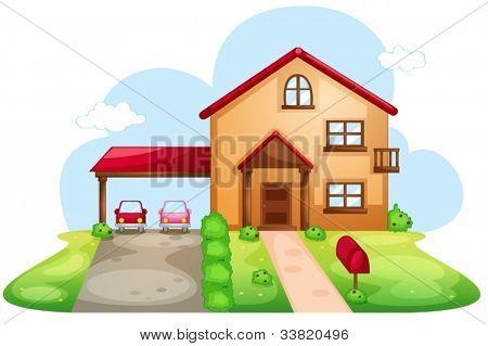 Illustration der ein standard-Haus