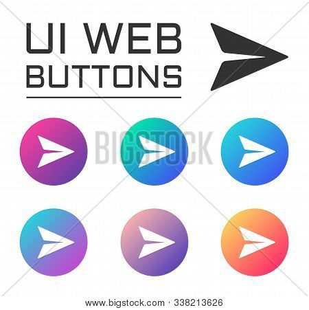 Paper Plane Send Massage Account Ui Web Button. Ui Elements. Paper Plane Send Massage Vector Icons O
