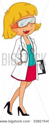 illustration of an isolated young woman on white - EPS VECTOR format also available in my portfolio.