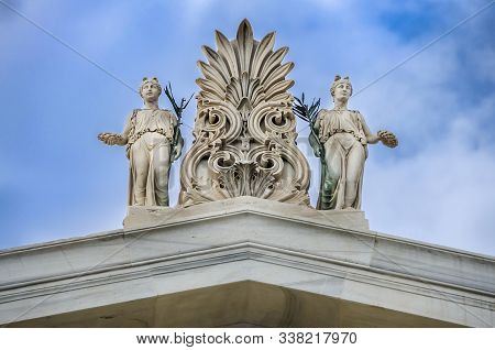 Sculptures, Pediment On The Roof Of Zappeion Megaron In Athens,grrece