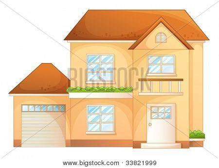 Abbildung eines einfachen Haus Vorderansicht Eps Vektor Format auch in mein Portfolio verfügbar.