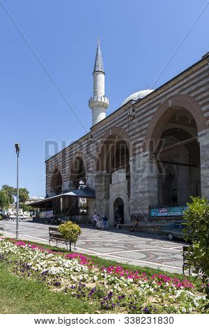 Edirne, Turkey - July 28, 2019: Eski Camii Mosque In City Of Edirne, East Thrace, Turkey