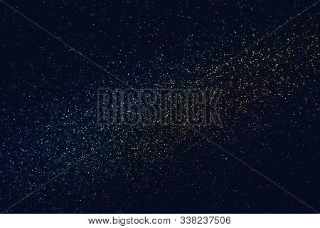 Glittering In The Dark Iridescent Texture Background Similar To The Night Sky