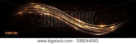 Glow Effect. Beautiful Light. Glint Cosmic Rays. Power Energy. Futuristic Wave Flash. Magic Sparks.