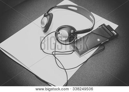 Headphones Used For Simultaneous Translation Equipment Simultaneous Interpretation Equipment . A Set