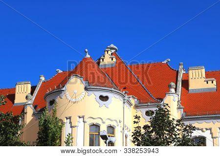 Catholic Gymnasium On Grosslingova Street 1908, Architect Oden Lechner , Bratislava, Slovakia. Sundi