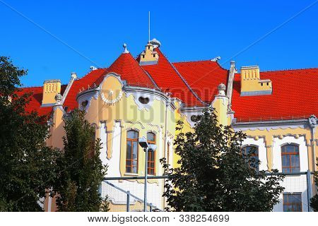 Sundial On Catholic Gymnasium On Grosslingova Street 1908, Architect Oden Lechner , Bratislava, Slov
