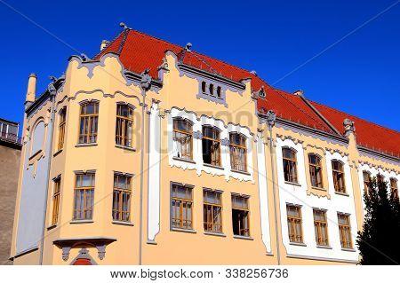 Catholic Gymnasium On Grosslingova Street 1908, Architect Oden Lechner , Bratislava, Slovakia