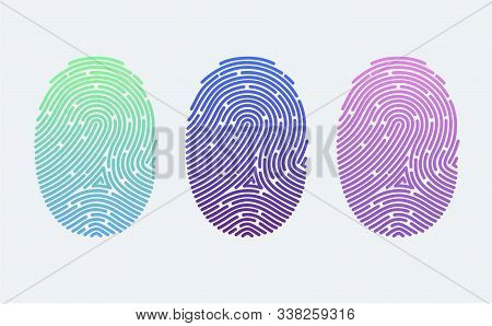 Fingerprints. Cyber Security Concept. Digital Security Authentication Concept. Biometric Authorizati