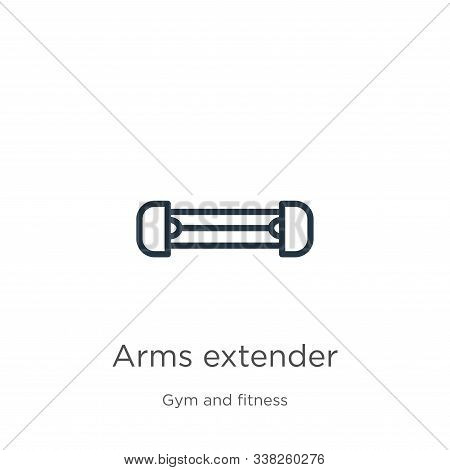 Arms Extender Icon. Thin Linear Arms Extender Outline Icon Isolated On White Background From Gym And