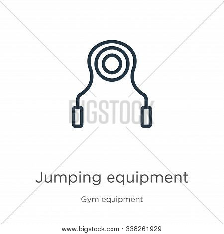 Jumping Equipment Icon. Thin Linear Jumping Equipment Outline Icon Isolated On White Background From