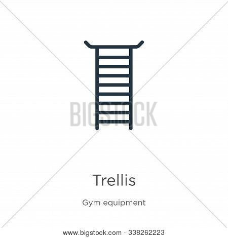 Trellis Icon. Thin Linear Trellis Outline Icon Isolated On White Background From Gym Equipment Colle