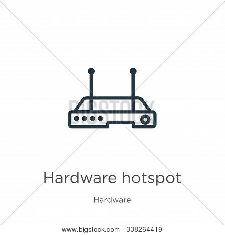 Hardware Hotspot Icon. Thin Linear Hardware Hotspot Outline Icon Isolated On White Background From H