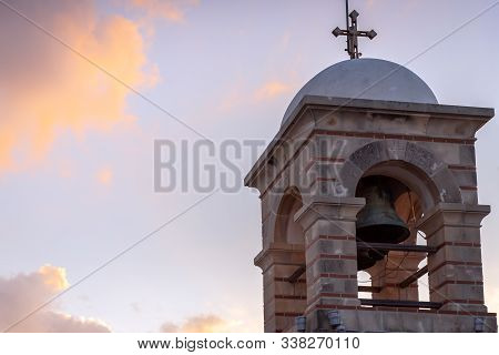 Tower At The Top Of The Lycabettus Hill In Athens, Greece
