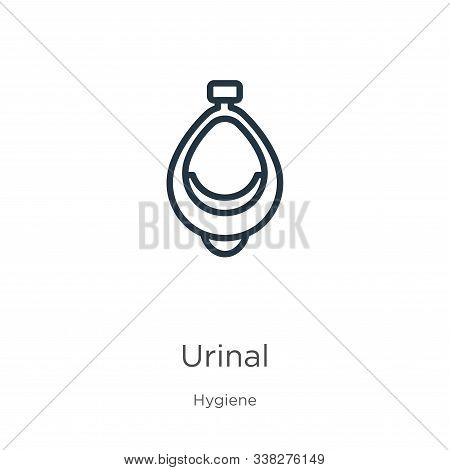 Urinal Icon. Thin Linear Urinal Outline Icon Isolated On White Background From Hygiene Collection. L