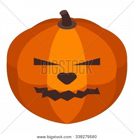 Fear Pumpkin Icon. Isometric Of Fear Pumpkin Vector Icon For Web Design Isolated On White Background