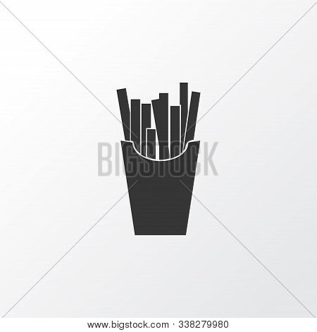 French Fries Icon Symbol. Premium Quality Isolated Salty Potato Element In Trendy Style.