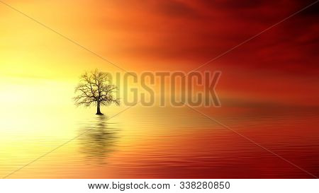 Dramatic Sunset With Fishermen Silhouetted Fishing In The River. Photo Of Mato Grosso Do Sul, Brazil