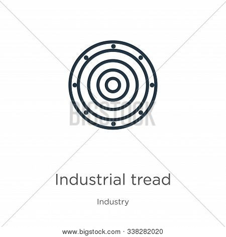 Industrial Tread Icon. Thin Linear Industrial Tread Outline Icon Isolated On White Background From I