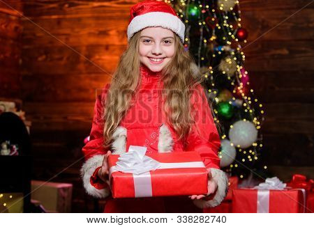 Santa Claus Little Girl. Little Girl In Red Hat. Wait For Santa Claus. Christmas Time. Santa Claus.