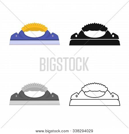 Isolated Object Of Scraper And Glass Logo. Graphic Of Scraper And Tool Vector Icon For Stock.