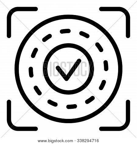 Approved Authentication Icon. Outline Approved Authentication Vector Icon For Web Design Isolated On