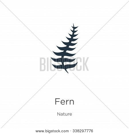 Fern Icon. Thin Linear Fern Outline Icon Isolated On White Background From Nature Collection. Line V