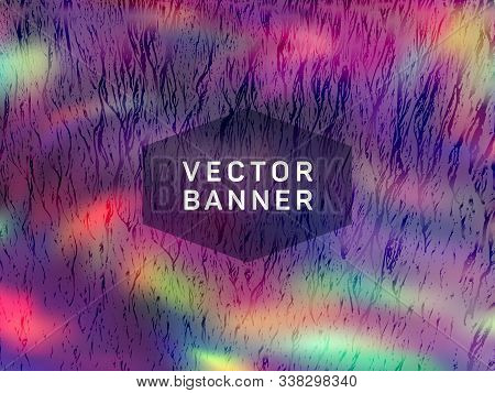 Simple Voucher Geometric Holographic Vector Background. Fluid Shimmer Overlay Elements. Blinking Abs