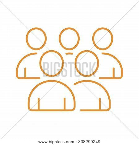 Illustration Of Crowd Of People - Icon Silhouettes Vector. Social Icon. Modern Design Flat Style Ico