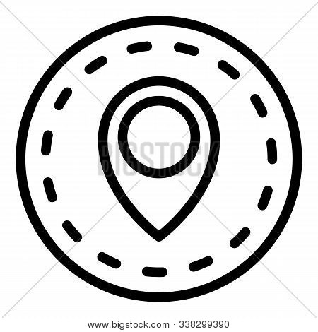 Import Location Icon. Outline Import Location Vector Icon For Web Design Isolated On White Backgroun