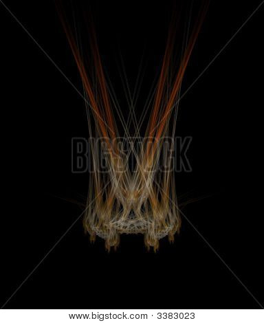 mystic fire fractal 1 on a black background poster