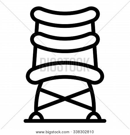 Office Compact Chair Icon. Outline Office Compact Chair Vector Icon For Web Design Isolated On White