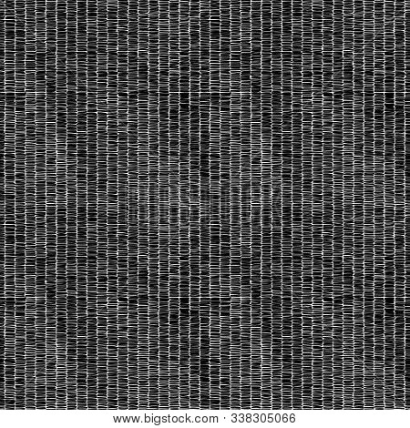 Embroidered Striped Black And White Pattern. Handwork. Print For Textile, Carpet, Rug.