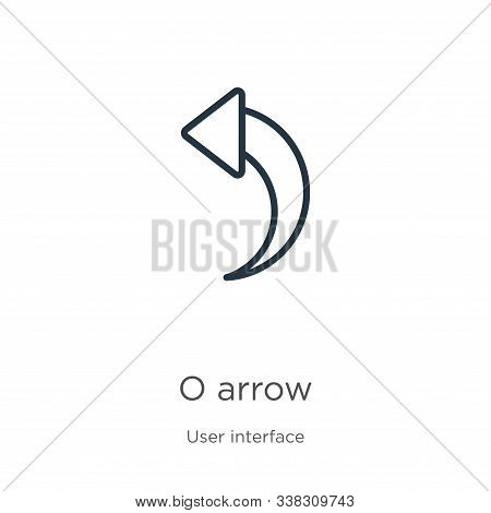 Redo Arrow Icon. Thin Linear Redo Arrow Outline Icon Isolated On White Background From User Interfac