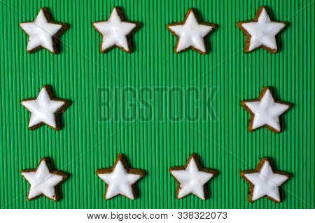 Christmas Or New Year Decoration On Wooden Background