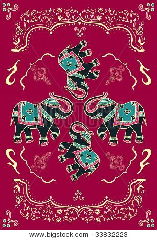 Festive Typical Indian Elephant