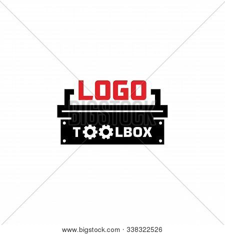 Vector Logo. Toolbox Logo. Workshop Logo Gear Logo. Isolated Toolbox Logo With A White Background. S