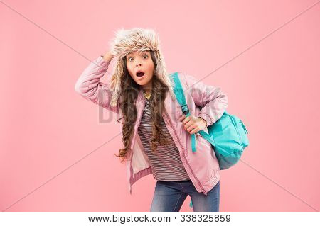 Winter Semester. Hipster Style. Modern Backpack For Daily Life. Teen Fashion. Schoolgirl Street Styl