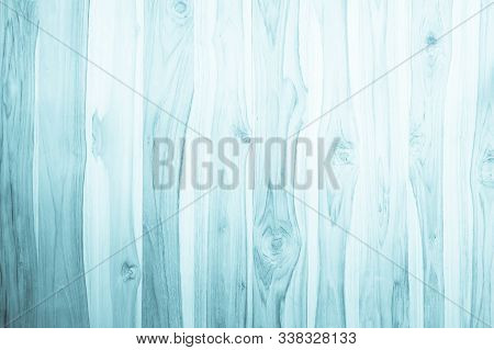 Pastel Grunge Wood Plank Texture Background. Vintage Blue Wooden Board Wall Have Antique Cracking St