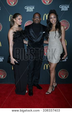 LOS ANGELES - DEC 4:  Roberta Moradfar, Martin Lawrence, Jasmine Lawrence at the 2019 Bounce Trumpet Awards at Dolby Theater on December 4, 2019 in Los Angeles, CA