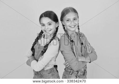 Ukrainian Kids. Children Ukrainian Young Generation. Celebrate National Holiday. Patriotism Concept.