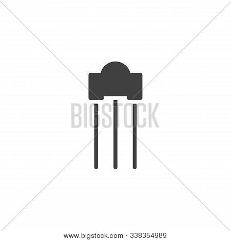 Electronic Thyristor Vector Icon. Filled Flat Sign For Mobile Concept And Web Design. Transistor Pow