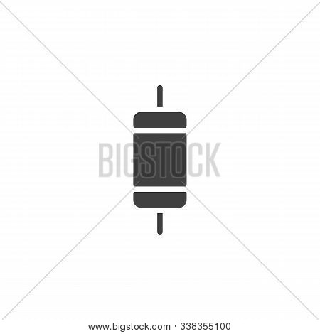 Electronic Component, Resistor Vector Icon. Filled Flat Sign For Mobile Concept And Web Design. Capa