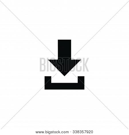 Download Icon Vector Isolated On White Background. Download Icon Simple Sign. Download Icon Image, D