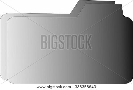 Folder Icon With Background White, Folder Icon Jpg, Folder Icon Art, Modern Folder Symbol For Logo,