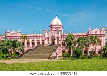 Dhaka,bangladesh - October 27,2019 - Ahsan Manzil - Mughal Palace In Dhaka. Dhaka Is The Capital And